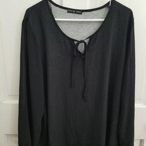 Black comfy blouse